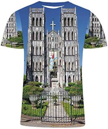 Saint Joseph Colorful Men/Women Hip Hop Graphic t Shirt Printed Hipster Short Sleeve,Roman Catholic Colorful in Hanoi,S