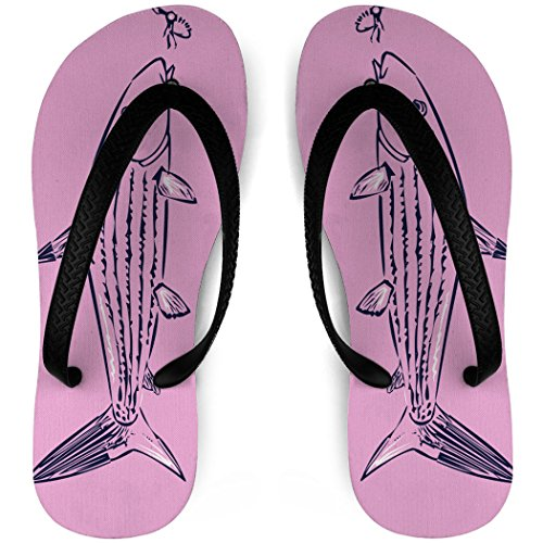 Fly Fishing Flip Flops Bonefish and Fly Pink NyE6G