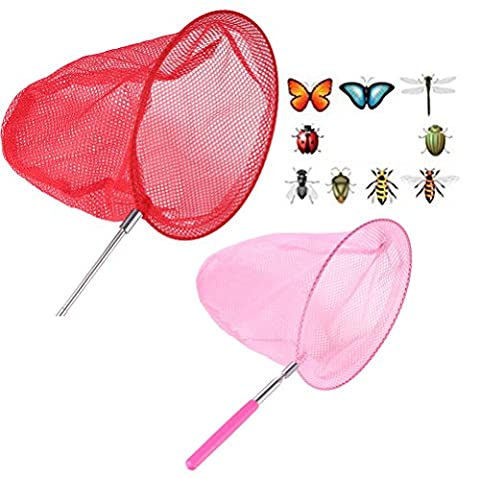 Gmai Telescopic Bug & Butterfly Net Insect Small Fish Catcher Extendable for Children Kids and Anti Slip Grip, Perfect Toy Set of Gift (Butterfly Pond Kit)