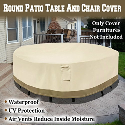 BenefitUSA Round Patio Table Chair Cover Garden Outdoor Furniture Cover Winte