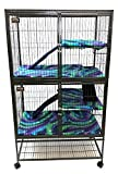 Piggy BedSpreads Fleece Liners for Ferret Nation Critter Nation Cage (Double, Northern Lights) Cage Not Included