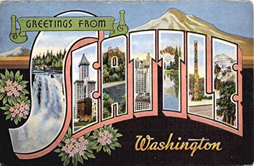 Greetings From Seattle Seattle, Washington Original Vintage Postcard from CardCow Vintage Postcards