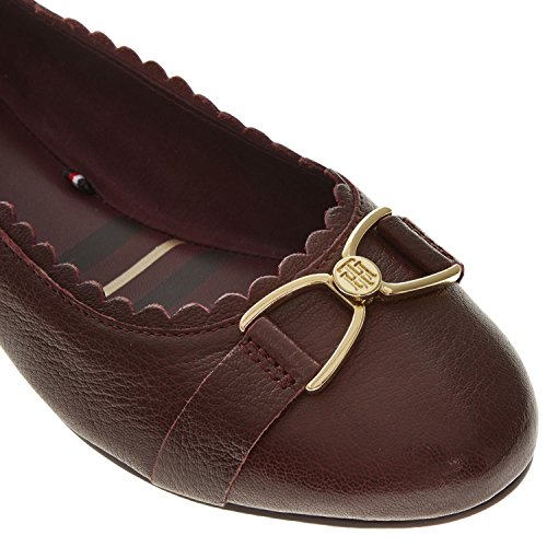 para Mujer Decadent Hilfiger de Bailarinas Tommy Chocolate Cuero wpqOxHqI