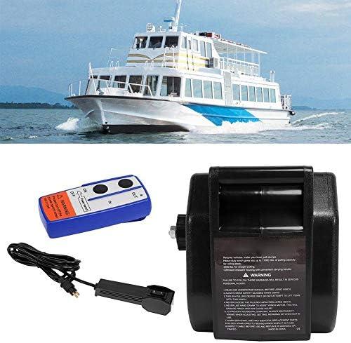 Hlyjoon Cabrestante el/éctrico 12V 2721KG con radio Control remoto Winch Boat Winch Cableck Recuperaci/ón de cabrestante el/éctrico Cuerda sint/ética Cable de acero remoto inal/ámbrico