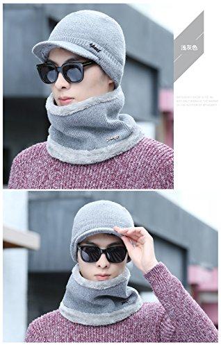 Gray Light sombreros azufaifa MASTER sombreros bib Baotou sombreros invierno engrosado beanie Navidad rojo de hombres tejido Men Los gorros Halloween tapas caps tejidos YqS1fwqBx