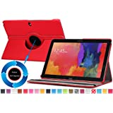 Moko Samsung Galaxy Note PRO & Tab PRO 12.2 Case - 360 Degree Rotating Cover Case for Galaxy NotePRO (SM-P9000) & TabPRO (SM-T900 / T905) 12.2 Android Tablet, RED