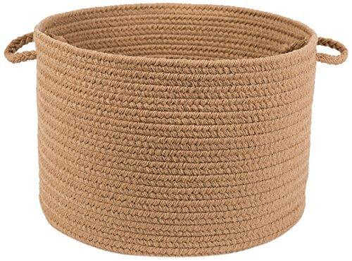 Rhody Rug Solid Basket, Camel by Rhody Rug