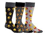 Sporticus  Densley & Co Mens Pizza, Burgers & Fries 3-Pack Dress Socks ,43386,Multi