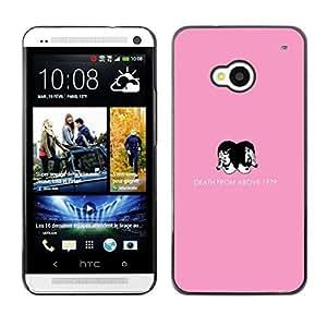 // PHONE CASE GIFT // Duro Estuche protector PC Cáscara Plástico Carcasa Funda Hard Protective Case for HTC One M7 / La muerte desde arriba /