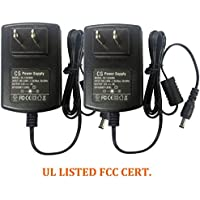 2 Packs AC 100-240V To DC 12V 3A Power Supply Adapter 5.5*2.1mm For CCTV Camera DVR NVR Led Light Strip UL Listed FCC