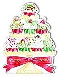 Carol Wilson Fine Arts Inc. - Embossed & Die Cut- Christmas Cupcakes - Christmas Cards- Boxed - 120 count- crgbx206x12