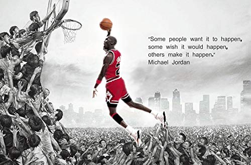 The Greatest Basketball Player of All Time MJ Posters and Prints Unframed Canvas Wall Art Gifts 11x17 - Jor01