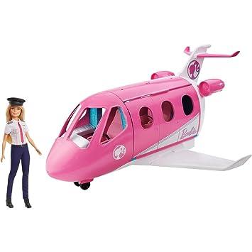 Barbie - Avión de tus Sueños, Avión de Juguete con Muñeca y Accesorios para Muñecas (Mattel GJB33)