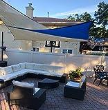 LOVE STORY Rectangle UV Block Canvas Sun Shade Sail for Outdoor Patio Garden Backyard