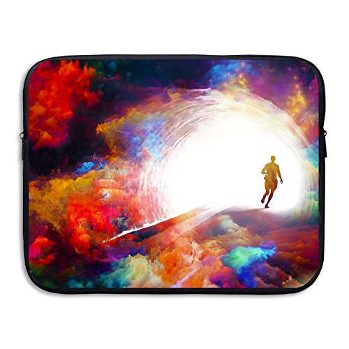 Fashion Man Running Paint Art Printed Computer Storage Bag Portable Waterproof Neoprene Laptop Sleeve Bag Zipper Pocket Cover SizaName For MacBook Pro, MacBook Air, - Australia Gear Running