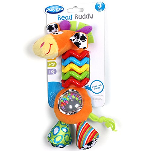 Large Product Image of Playgro 0181561107 My First Bead Buddies Giraffe for baby infant toddler children