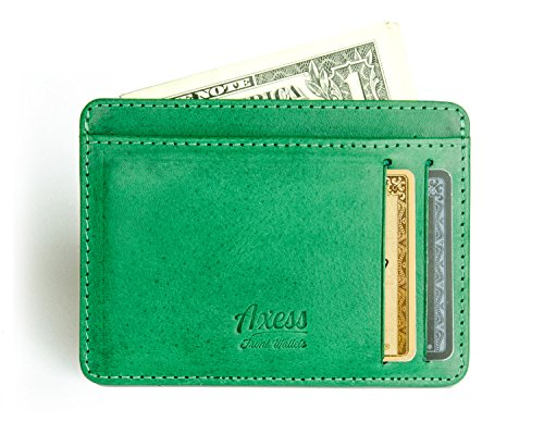 Front Card in leather Pocket RFID from Holder Tuscany Axess Minimalist Wallet rH0ArSqp4