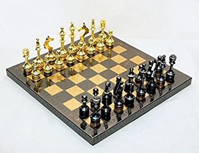 chess board chess set for adults chess pieces metal brass wooden chess set large chess 14X14 Inches