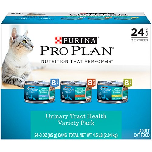 Purina Pro Plan Urinary Tract Health Wet Cat Food Variety Pack; FOCUS Urinary Tract Health Formula - (24) 3 oz. Cans