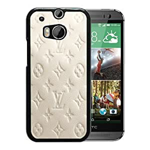 Fashionable And Unique Designed Case For HTC ONE M8 Phone Case With Milky Leather Louis Vuitton Patterns Black