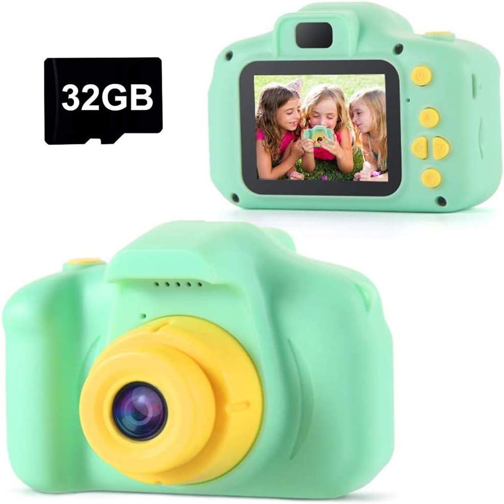TekHome Cámara Digital Niños, 1080P Selfie Cámara de Fotos, Video cámara Infantil con Tarjeta TF 32 GB Regalos para Niños Niñas de 3-12 Años
