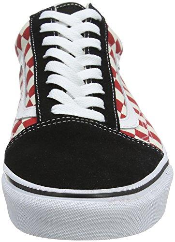 BLACK Shoes Red Unisex Skate CHECKERBOARD Black 35U RED Old Vans Checkerboard Skool VN0A38G135U dP8UXXxq
