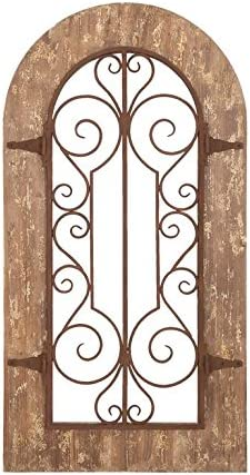 Deco 79 52748 Wood Metal Wall Panel, 38 H x 20 W