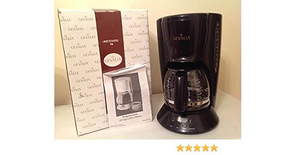 Amazon Com Classic Gevalia 12 Cup Programmable Coffeemaker Black P86 Drip Coffeemakers Kitchen Dining