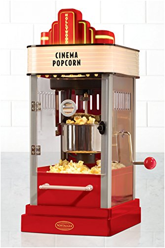 082677211910 - Nostalgia HKP200 Hollywood Series 2.5-Ounce Kettle Popcorn Popper with Personalized Lighted Marquee carousel main 1