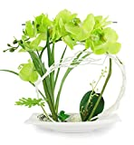 Potted Artificial Orchid Flower Arrangements Bonsai Centrepiece Table Decoration Simulation flowers green