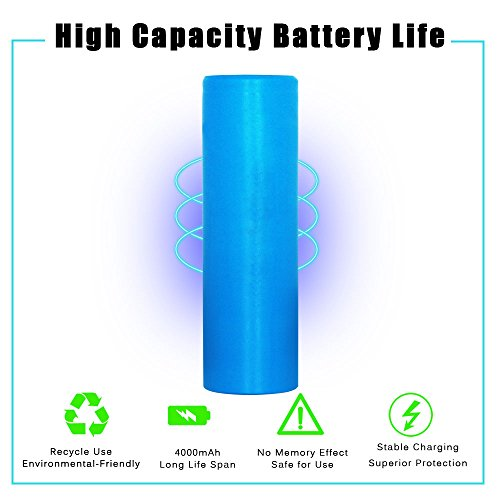 21700 Battery, DOCA 4000mAh High Drain Li-ion Rechargeable Batteries 3.7V IMR Protected Flat Top 21700 Battery by DOCA (Image #1)