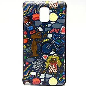 caso duro del patrón de payasos de basura para Samsung Galaxy Note 4