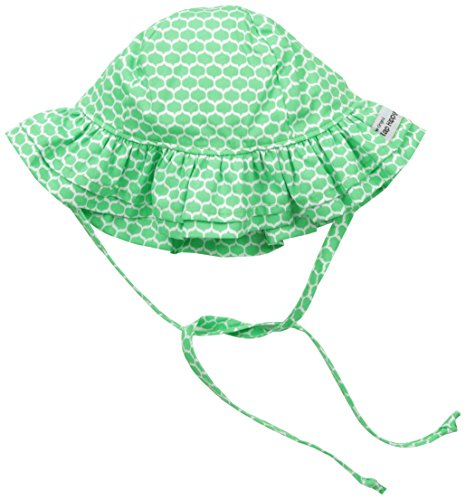 Flap Happy Cotton Flap Hat - Flap Happy Girls' UPF 50+ Double Ruffle Hat, Princess Prisms Small