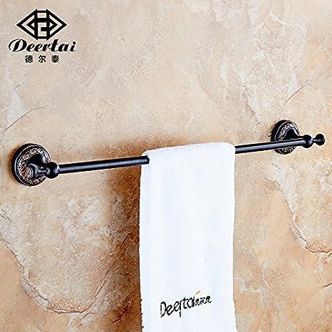 ZYZX Barra de Toalla de baño Toallas Plegado Actividad con Ganchos de Toallas de baño Acero Inoxidable Chapado toallero Doble: Amazon.es: Hogar