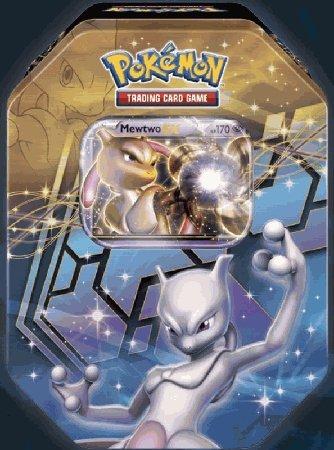 2012 Pokemon Dragons Exalted Mewtwo-EX Legendary Collector's Tin - Pokemon Black & White (Black And White Legendary Treasures Booster Box)