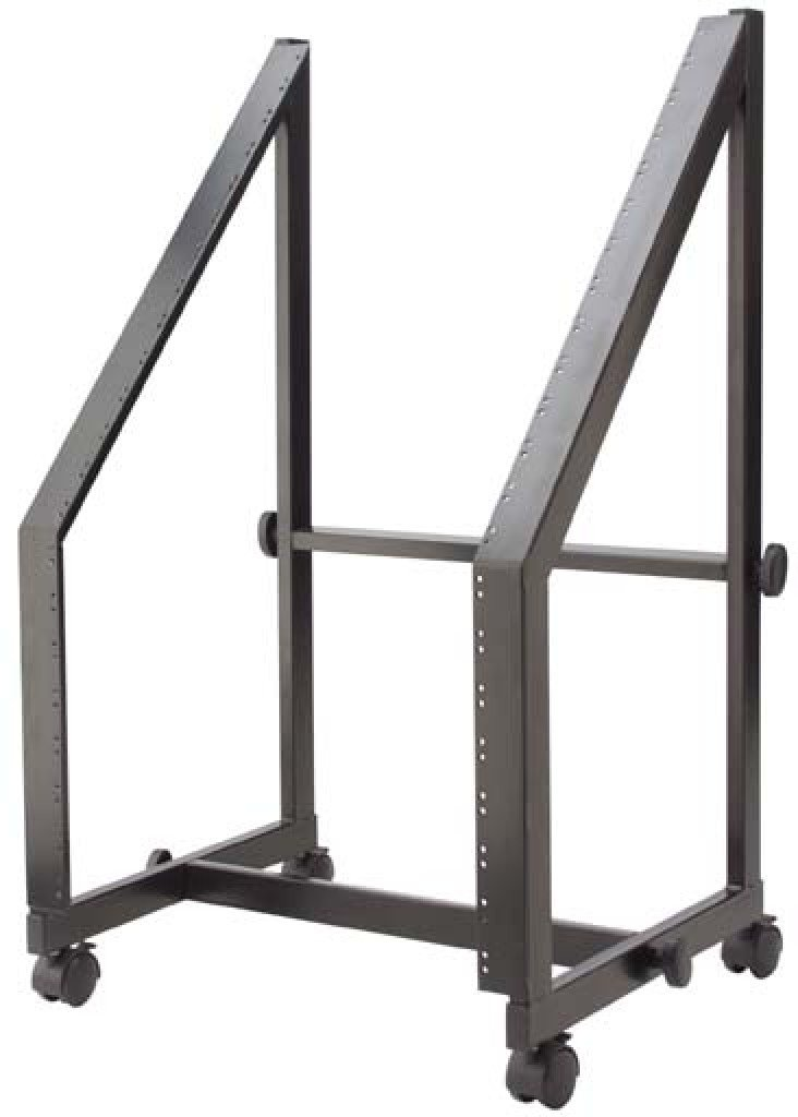 Stagg MRS-A13/7U Fixed 19-Inch/13U+7U Rack Trolley for Power Amps & Mixers - Black by Stagg