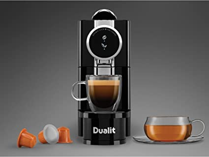 New Dualit Cafe Plus Capsule Machine Compatible W/ Dualit And Nespresso Capsules