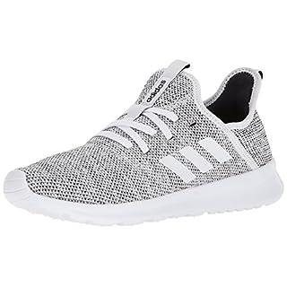 adidas Women's Cloudfoam Pure Running Shoe, white/white/black, 7.5 Medium US