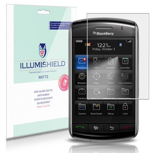 BlackBerry Storm 9530 Screen Protector [3-Pack], iLLumiShield - Anti-Glare (Matte) HD Clear Film/Anti-Bubble & Anti-Fingerprint/Japanese Shield ()