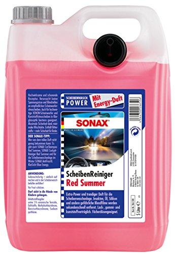 2 garrafas de líquido de limpiaparabrisas Red Summer Energy, de Sonax, 02665000, 5 litros por garrafa: Amazon.es: Coche y moto