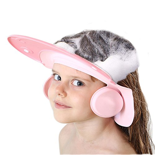 Baby Bath Shower Cap wash Shampoo Visor Adjustable Bathing tub Head Hair Rinser hat Prevent Water from Entering The Eye and Ear Protection Kid and Toddler ()