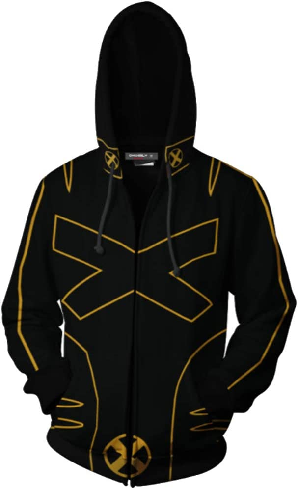 Sudaderas con Capucha X-Men Gold Steel Wolf Suéter 3D Impreso ...