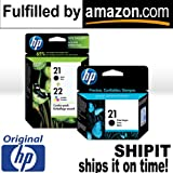 NEW Original HP 21 Black HP 22 Color Ink Cartridge COMBO PACK with BONUS HP 2…, Office Central