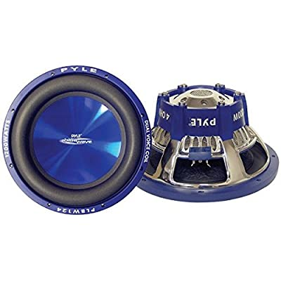 Car Vehicle Subwoofer Audio Speaker - 8 Inch Blue Injection Molded Cone, Blue Chrome-Plated Steel Basket, Dual Voice Coil 4 Ohm Impedance, 600 Watt Power, for Vehicle Stereo Sound System - Pyle PLBW84: Car Electronics