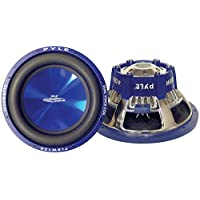 Car Vehicle Subwoofer Audio Speaker - 8 Inch Blue Injection Molded Cone, Blue Chrome-Plated Steel Basket, Dual Voice Coil 4 Ohm Impedance, 600 Watt Power, for Vehicle Stereo Sound System - Pyle PLBW84