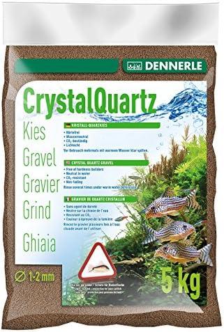 Dennerle Aquarienkies Dunkelbraun 5 oder 10 kg - Bodengrund für Aquarien - Körnung 1-2 mm
