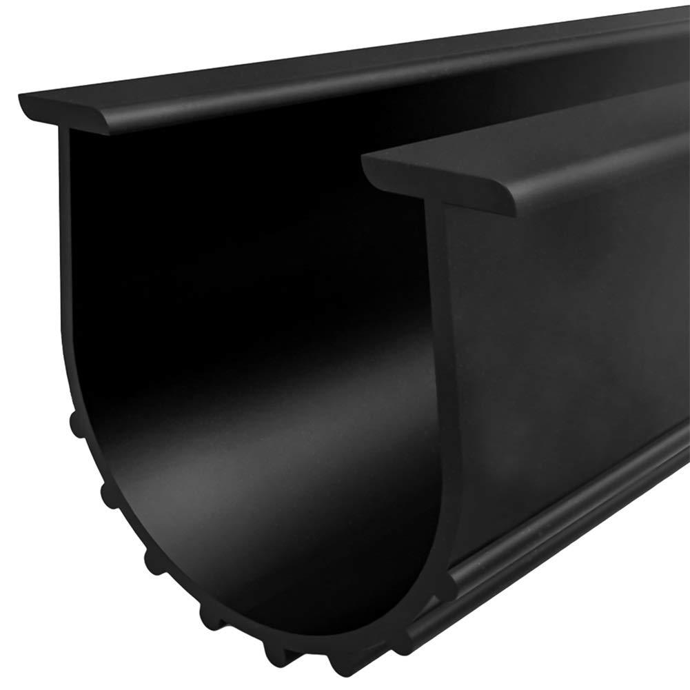 Garage Door Bottom Weather Stripping Kit Rubber Seal Strip Replacement, Weatherproofing Universal Sealing Professional Grade T Rubber,5/16'' T Ends, 3 3/4'' Width X 20 Feet Lenth (Black) by CloudBuyer