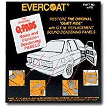 Fibreglass Evercoat 116 Q-Pads Sound Deadener 12 x 12 (6 Per Pack)