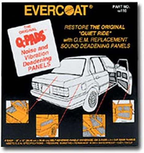 Evercoat 116 Q-Pads Sound Deadener 12 x 12 6 Per Pack