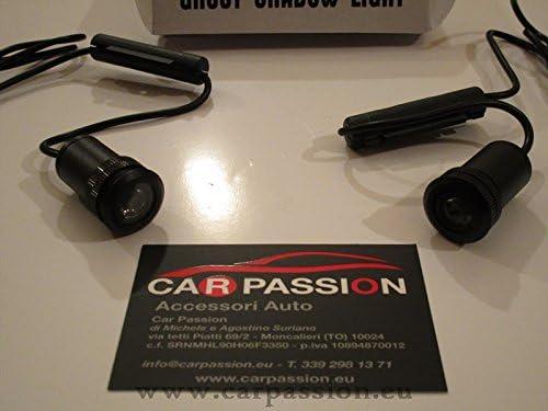 car passion LED ABARTH T/ürschweller-Beleuchtung//LED T/ür Logo Abarth Licht H/öflichkeit LED 500